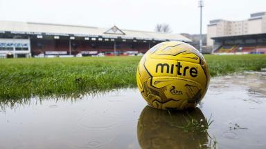 Called off: Partick Thistle v St Johnstone was also postponed.
