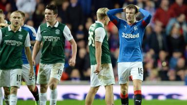Andy Halliday received a red card from referee Bobby Madden.