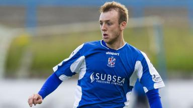 Cowdenbeath's Greig Spence in action.