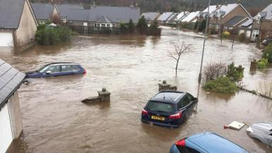 Ballater: Richard Lochhead returned to the town badly hit by flooding to make the announcement.