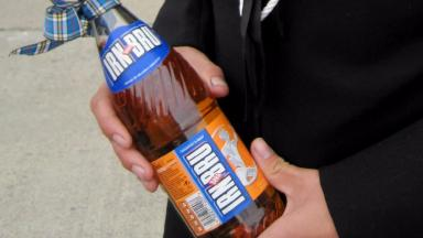 Glass cheque: End of Irn-Bru bottle return.