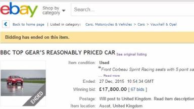 The car sold for just under £18,000.