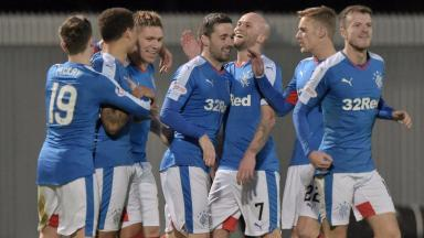 Comprehensive: Rangers saw off Dumbarton with ease.