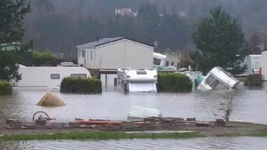Flooding: Deeside Caravan Park in Maryculter was evacuated.