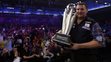 Champion: Gary Anderson retained his title at Ally Pally.