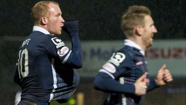 Ross County's Liam Boyce (left) will miss four weeks with a broken hand.