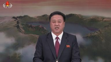 The surprise announcement was made on North Korean state TV