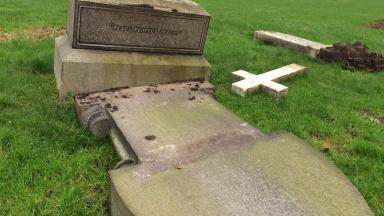 Gravestones: Vandals struck at Bennochy Cemetery in Kirkcaldy.