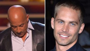 Vin Diesel was overcome with emotion at the ceremony.