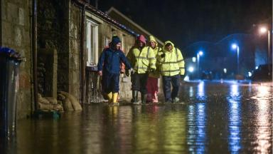 Flooding: Residents evacuated from homes in nearby Inverurie (file pic).