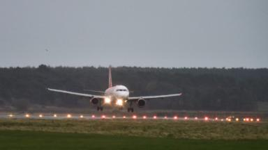 Idiotic act: An inbound flight was targeted with a laser pointer
