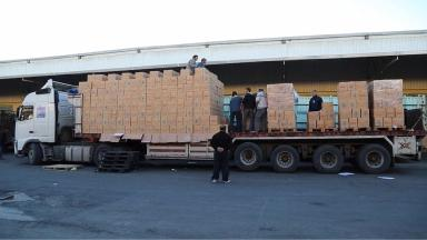 A huge convoy of aid has been prepared for those starving in Madaya.