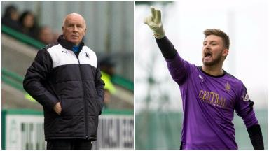 Manager Peter Houston and goalkeeper Danny Rogers have been awarded for December.