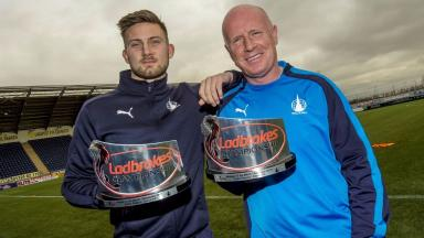 Awards: The Falkirk pair picked up the monthly accolades.