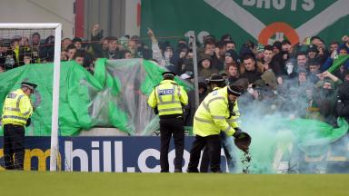 Celtic have banned three fans over the use of pyrotechnics.