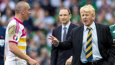 Scotland captain Scott Brown and boss Gordon Strachan.