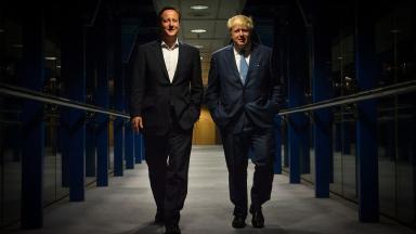 David Cameron with Boris Johnson.