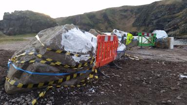 Cove Harbour: Landlord ordered to remove boulders.
