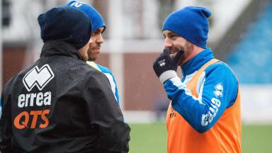 Kris Boyd and Lee McCulloch at Kilmarnock training.