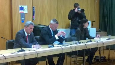 Standards Commission: Willie Young (far left) at meeting in Aberdeen.