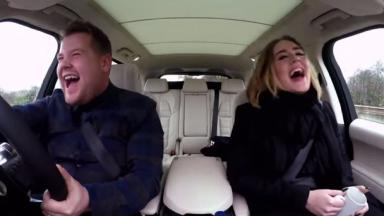 James Corden and Adele.