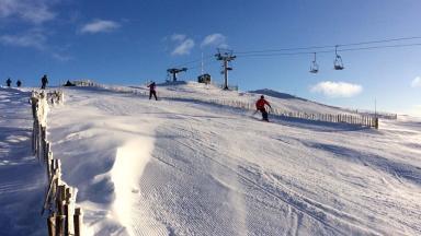Glenshee: Skiers flock to mountains for start of season.