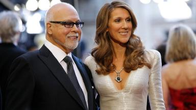 Singer Celine Dion and her husband Rene Angelil pictured in 2011