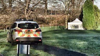 Discovery: Officers searched the grounds of Gogarburn Golf Club and Gogar Mount House.