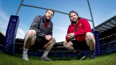 Ben (right) and Alex Toolis will play for Edinburgh against Agen.