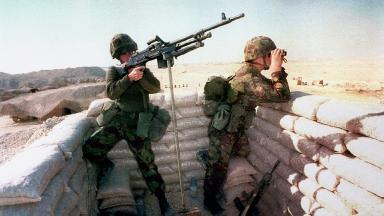 British troops during the Gulf War, 1991