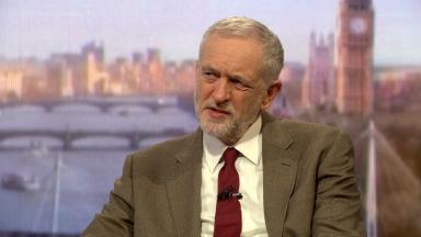 Jeremy Corbyn appearing on the BBC's Andrew Marr Show.