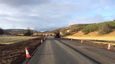 Diversion: The temporary road will offer an alternative to part of the A93.