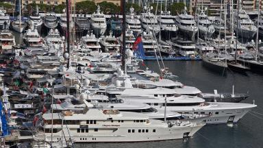 File photo: Luxury boats are seen in Monaco harbour.