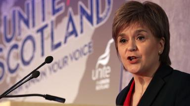 Nicola Sturgeon: Pledged to fight Trades Union Bill.