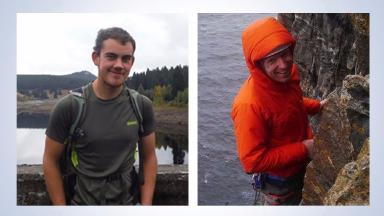 Climbers: Joe Smith (left) and Simon Davidson (right) who died in Glen Coe.
