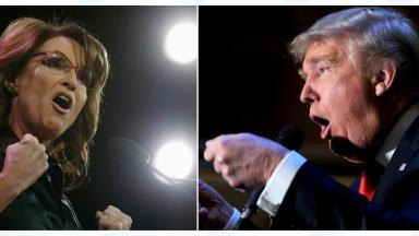 Donald Trump is endorsed by former US vice-presidential nominee Sarah Palin.