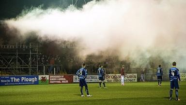Pyrotechnics: Fans set off smoke bombs at Forfar v Linlithgow