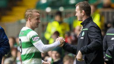 Hat-trick hero: Leigh Griffiths with manager Ronny Deila