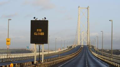 Closure: Forth Road Bridge was closed for much of December into early 2016.