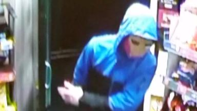 Roslin Stores: Man in Iron Man mask attempted to rob shop.