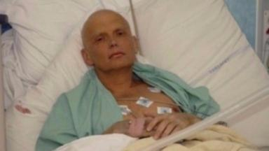 Russian spy Alexander Litvinenko in hospital as he lay dying from polonium-210 poisoning in 2006
