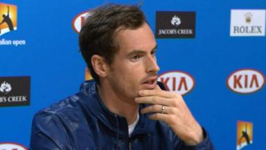 Progress: Andy Murray is into the third round in Melbourne.