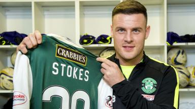 Anthony Stokes is unveiled as Hibernian's newest signing
