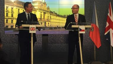 David Cameron and Bohuslav Sobotka held talks on the European migration crisis.