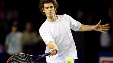 Andy Murray: Aged 17, playing in the Aberdeen Cup.