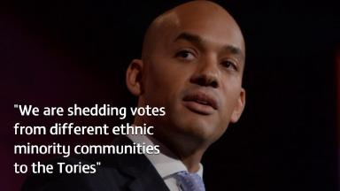 Former shadow business secretary Chuka Umunna is concerned about Labour's appeal to ethnic minority voters.