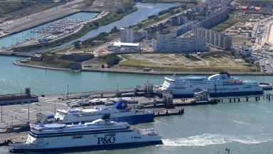 The Port of Calais was forced to close after 50 migrants made their way onto the P&O ferry.