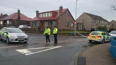 Firearms: Police sealed off Meethill Place, Peterhead.