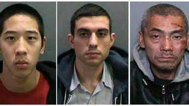 Left to right: Jonathan Tieu, 20, Hossein Nayeri, 37, and Bac Duong, 43.
