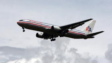 An American Airlines Boeing 767 aircraft similar to the one involved in the incident.